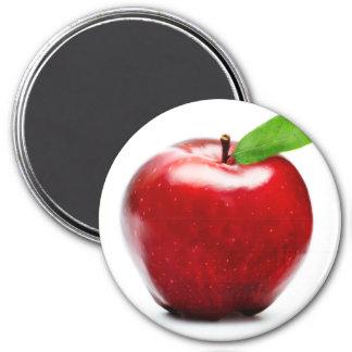 Red Apple 7.5 Cm Round Magnet