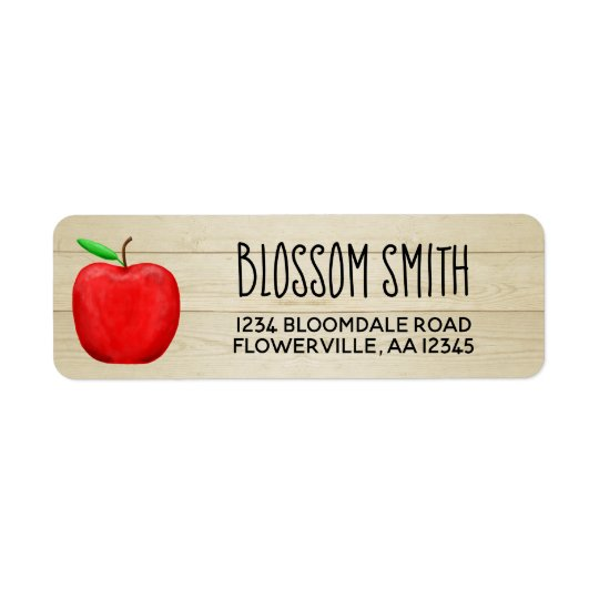 Red Apple Address Labels