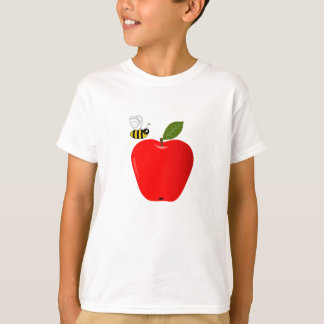 Red Apple and Honey Bee T-Shirt