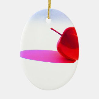 Red Apple and Shadow Christmas Ornament