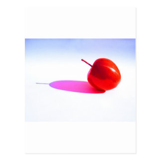 Red Apple and Shadow Post Card