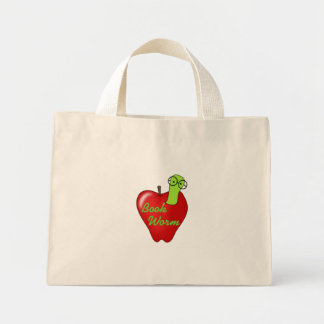 Red Apple Book  Worm Tshirts and Gifts Tote Bags