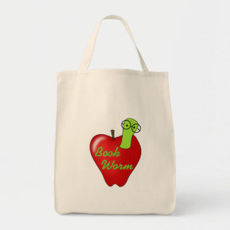 Red Apple Book Worm Tshirts and Gifts Canvas Bag