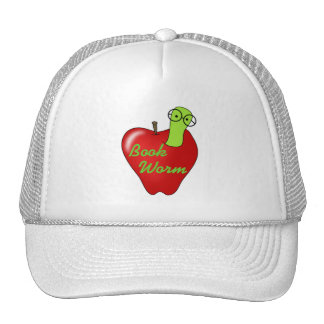 Red Apple Book Worm Tshirts and Gifts Hat