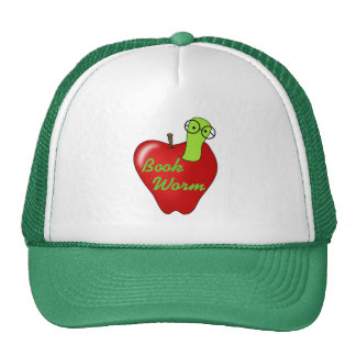 Red Apple Book  Worm Tshirts and Gifts Hats