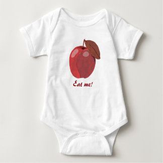 Red Apple Eat Me Baby Body Suit Baby Bodysuit