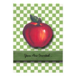 Red Apple Green Checks Personalized Announcement