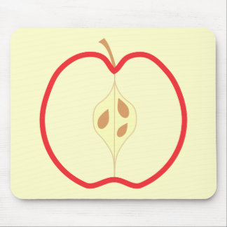 Red Apple Half. Mouse Pads
