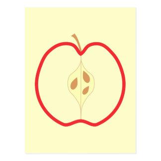 Red Apple Half. Postcard