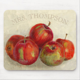 Red Apple Harvest Add Name Mouse Mat