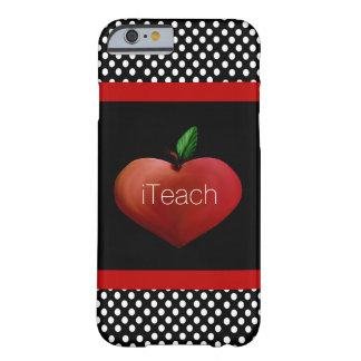 Red Apple Heart Teacher's iPhone 6 case