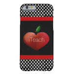 Red Apple Heart Teacher's iPhone 6 case Barely There iPhone 6 Case