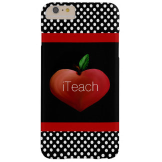 Red Apple Heart Teacher's iPhone 6 Plus case