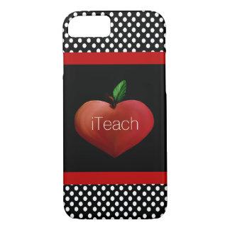 Red Apple Heart Teacher's iPhone 7 case
