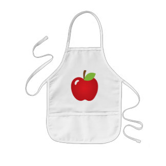 Red Apple Kids Apron