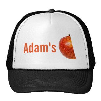 Red apple left half cap