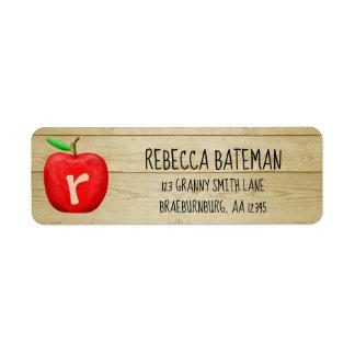 Red Apple Monogram Address