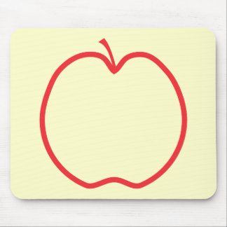 Red Apple Outline. Mousepads