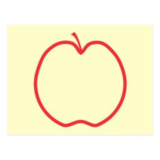 Red Apple Outline. Postcard
