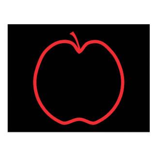Red Apple Outline Postcards