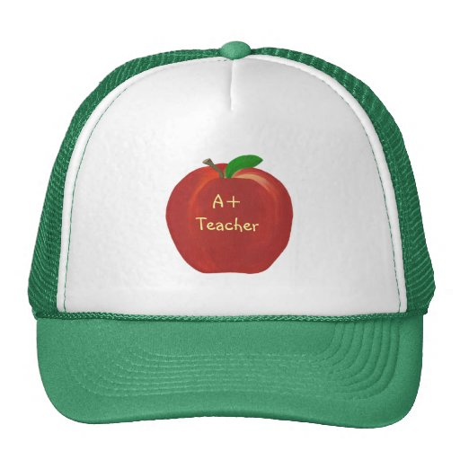 Red Apple Painting, A+ Teacher hats