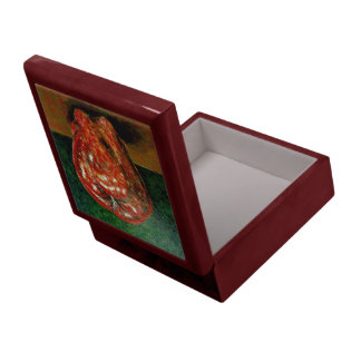 Red Apple Painting, Mahogany Box