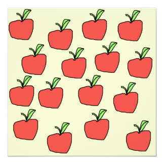 Red Apple Pattern. Card