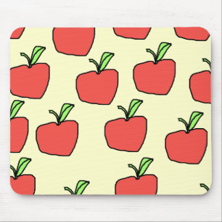 Red Apple Pattern. Mouse Pad