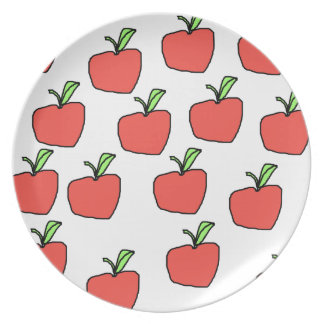Red Apple Pattern. Plate