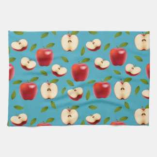 Red Apple Pattern Towels
