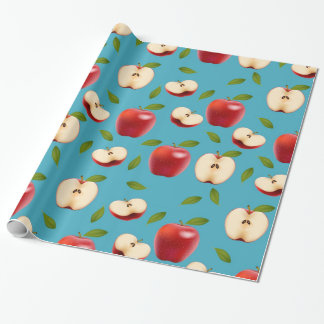 Red Apple Pattern Wrapping Paper