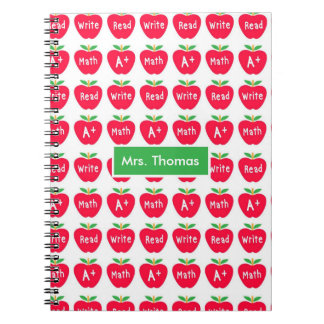 Red Apple Personalized Notebook
