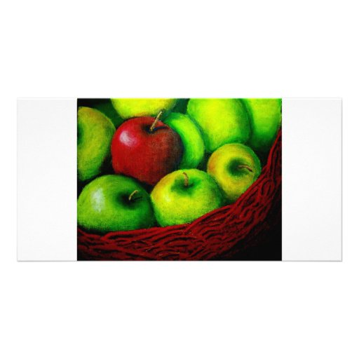 Red Apple Photo Card Template