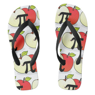 Red Apple Pi Flip Flops