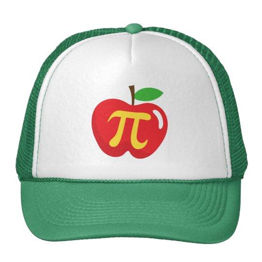 Red apple pie pi symbol cap