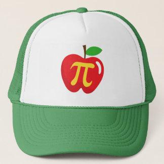 Red apple pie pi symbol trucker hat
