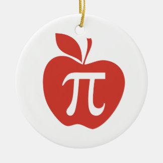 Red Apple Pie Round Ceramic Decoration