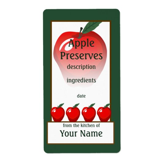 Red Apple Preserves Label Shipping Label
