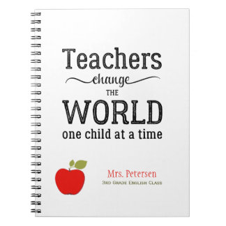 Red apple quote and your text teacher notebook