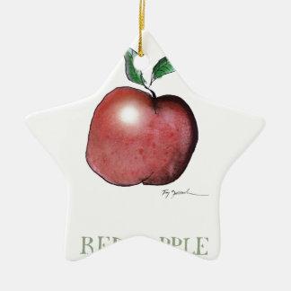 red apple, tony fernandes ceramic star decoration