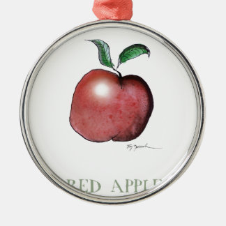 red apple, tony fernandes christmas ornament