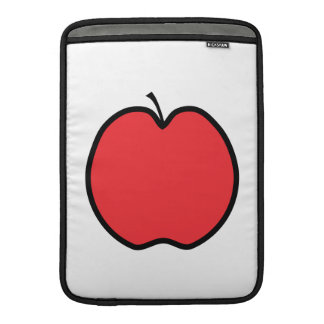 Red Apple with a Black Outline. MacBook Sleeve