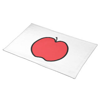Red Apple with a Black Outline. Placemat