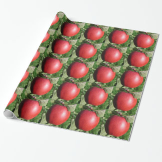 Red Apple with a Leaf Wrapping Paper