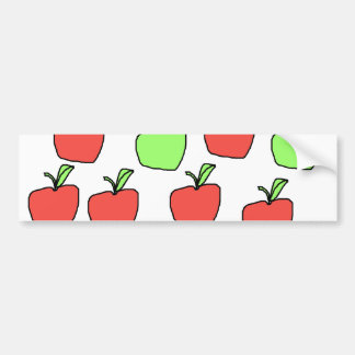 Red Apples and Green Apples, Pattern. Bumper Sticker