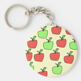 Red Apples and Green Apples Pattern. Key Ring