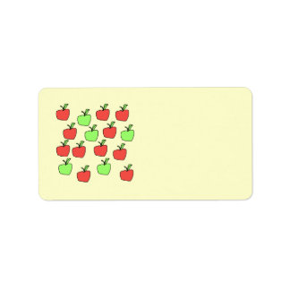 Red Apples and Green Apples, Pattern. Label