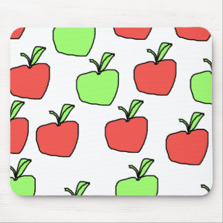 Red Apples and Green Apples, Pattern. Mouse Pad