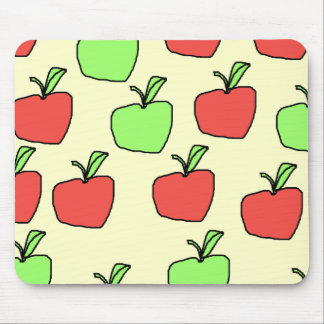 Red Apples and Green Apples Pattern. Mousepad