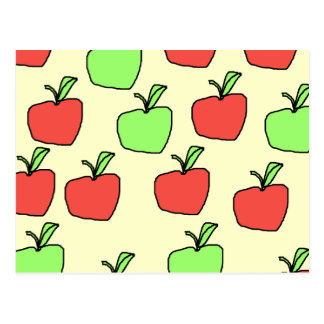 Red Apples and Green Apples Pattern Post Card